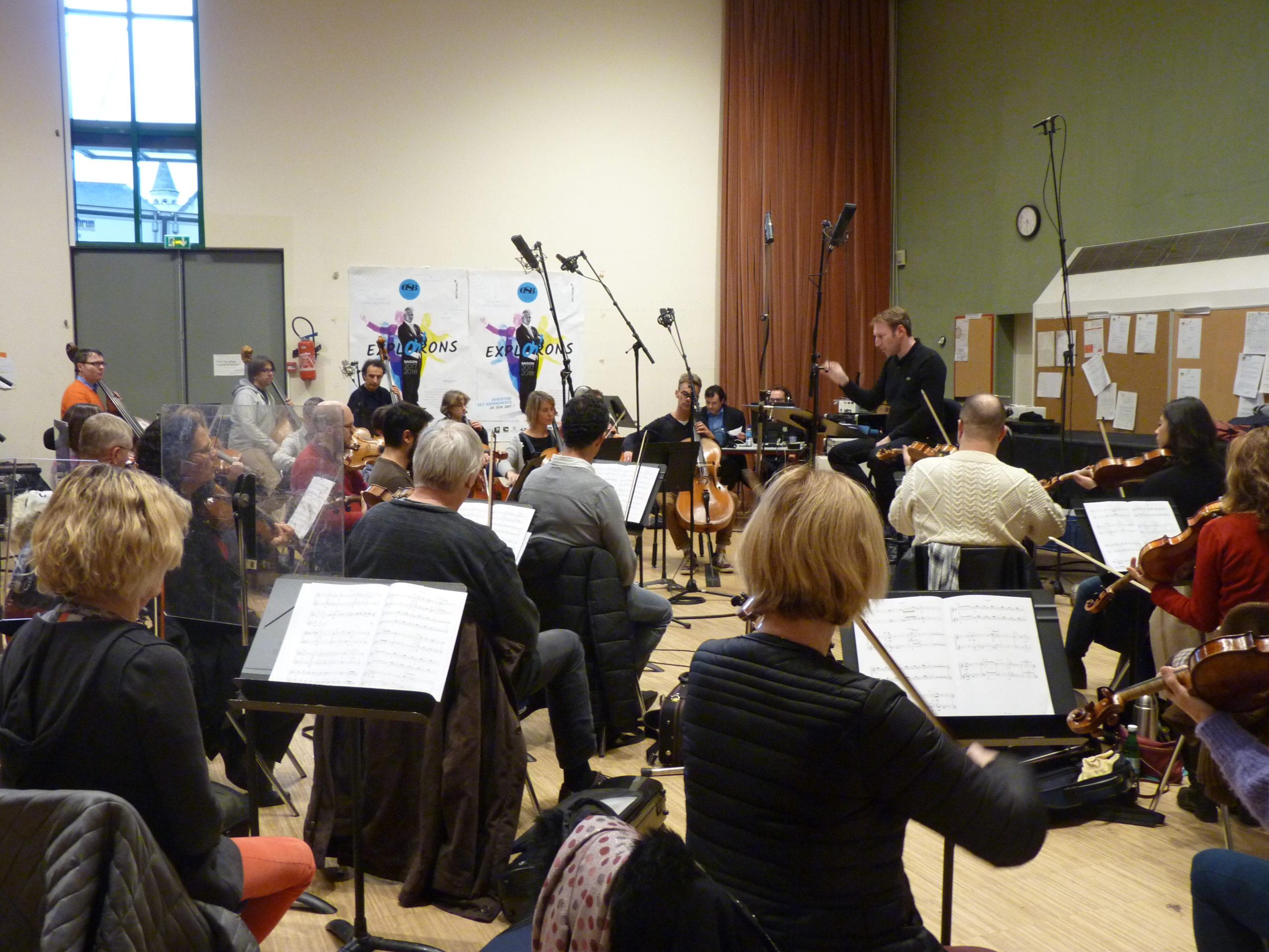 """Recording """"Porte"""" - Orchestre Symphonique de Bretagne, cond. Aurélien Azan Zielinski"""