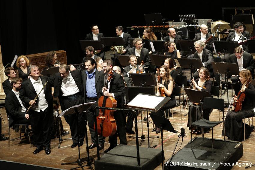 Paolo Cavallone - Metamorfosi d'amore in Palmanova Mitteleuropa Orchestra - cond. M. Guidarini - fl. R. Fabbriciani - vc. A. Merici - Foto Elia Falaschi © 2017