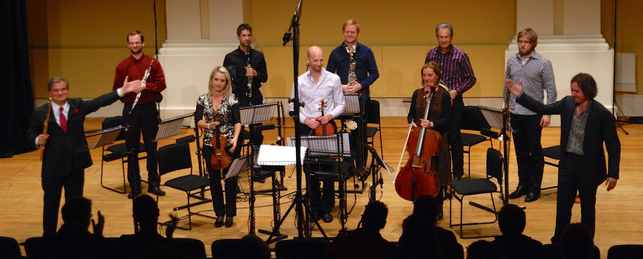 Cavallone's Horos with the Stroma Ensemble cond. Hamish McKeich, flute R. Fabbriciani