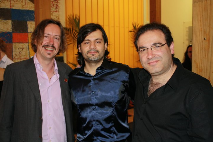 With conductor Hamish McKeich and composer John Psathas