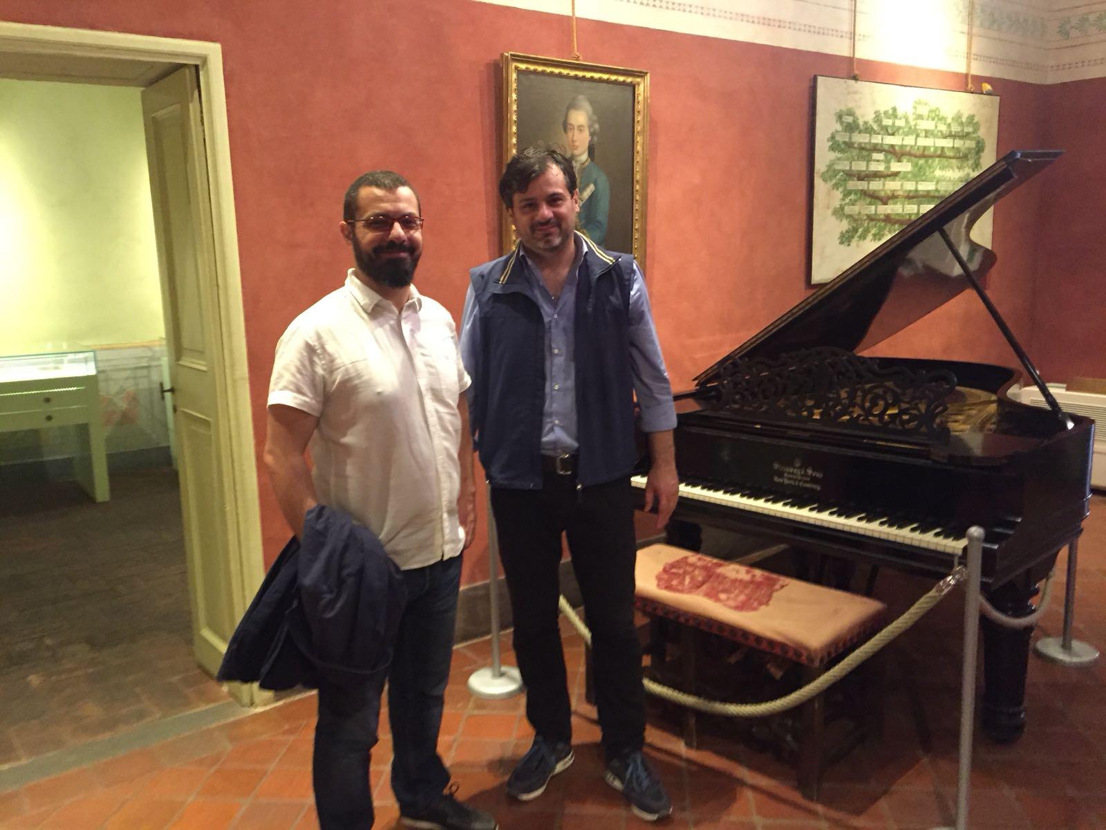 with composer Girolamo Deraco, Lucca 2018